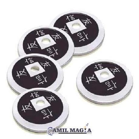 Set 4+1 Moneda China Aluminio Tamaño 1 Dolar (Eisenhower) por Camil Magia