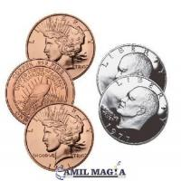 Hopping Half 1 Dolar Eisehower y 1 oz Pure Copper por Camil Magia