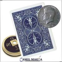 Lethal Tender Moneda China/Medio Dolar ( Naipe Bicycle) por Camil Magia