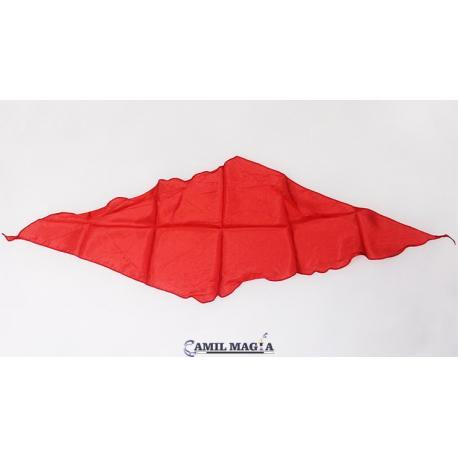 """Pañuelo de Seda Diamante 24"""" Rojo por Gosh"""