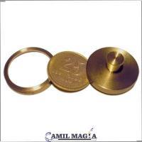 Moneda a Tavés de la Mano 25c (Bronce) por Camil Magia
