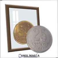 Plata y Cobre 25c/50c por Camil Magia