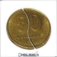 Moneda Plegable Sistema Externo 50c por Camil Magia