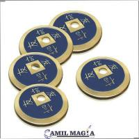 Set 4+1 Monedas Chinas Bronce Tamaño Medio Dolar por Camil Magia