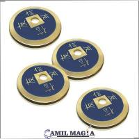 Set 4 Bronze Chinese Coins by Camil Magic