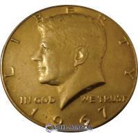 Jumbo Half Dollar Coin Gold for Camil Magic Simil