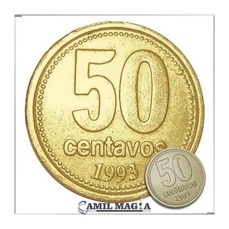 Moneda Jumbo 50c Simil Oro